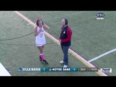 Villa Maria vs Academy of Notre Dame de Namur Field Hockey (2018-10-18) - Post-Game Interviews