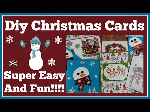 Diy Christmas Cards Super Easy and Fun