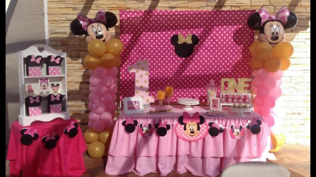 Decoraci n minnie mouse rosa youtube for Decoracion de minnie mouse