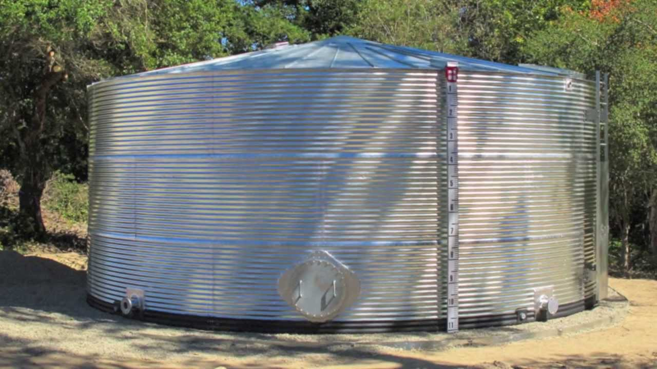 Classic Corrugated Galvanized Steel Water Tank 52395
