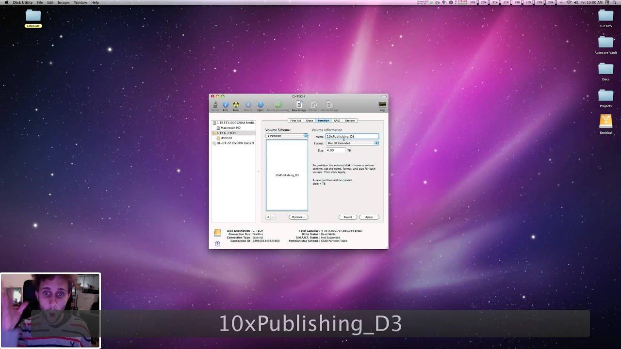 how to make msdos partition mac