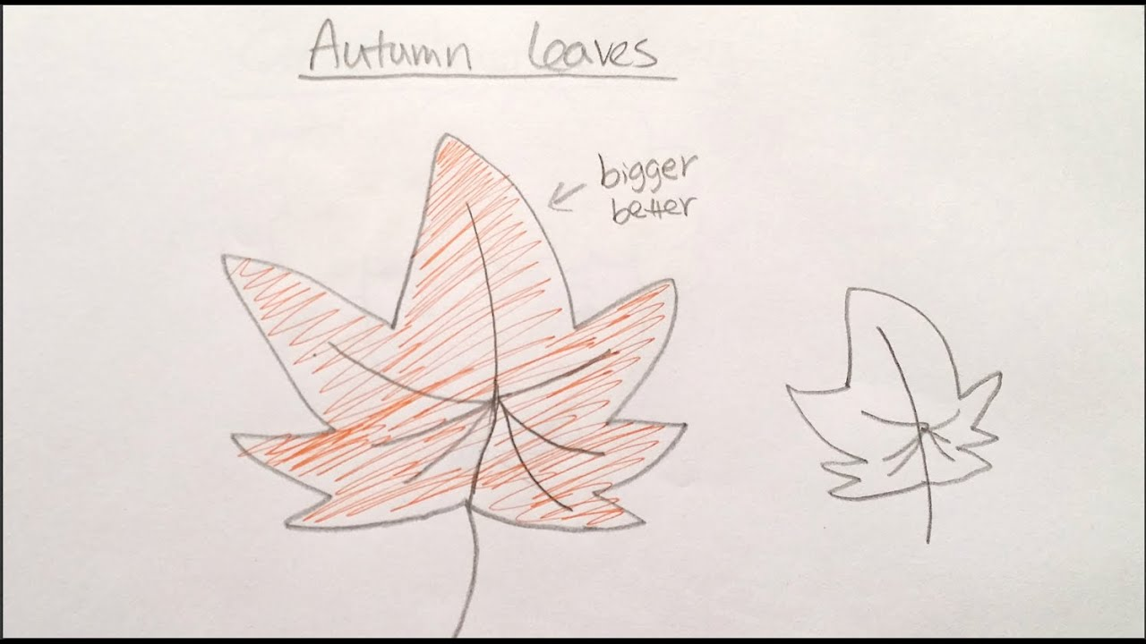 How To Draw Cartoon Autumn Leaf 畫卡通秋葉 Easy Drawing Tutorial For Beginners Youtube