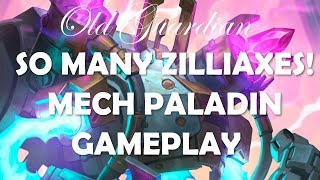 So many Zilliaxes! Hearthstone Rise of Shadows Mech Paladin vs Tempo Rogue gameplay