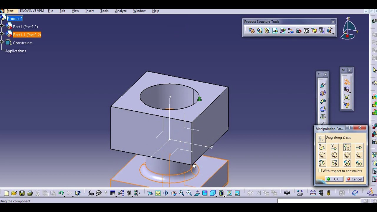 HOW TO CALL THE PARTS & CREATE ASSEMBLY CATIA V5