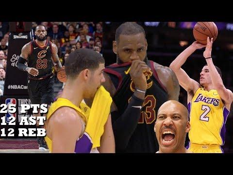 Lonzo Ball Almost Drops a TRIPLE DOUBLE on LeBron James!! Lakers vs Cavs!