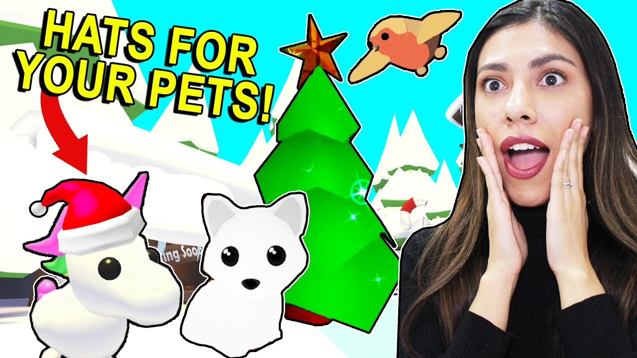 All The New Christmas Pets And Hats For Pets Roblox Adopt Me Update And Leaks Youtube