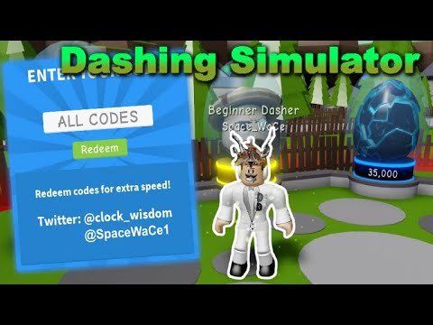 Roblox Code Dashing Simulator All Working Codes Dashing Simulator Roblox Youtube