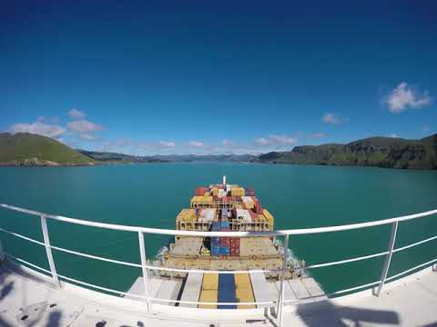 New Zealand - Timelapse  Mega container ship berthing