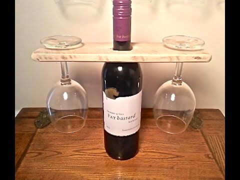 Wood Pallet Wine Bottle And Glass Display Holder Pallet Projects