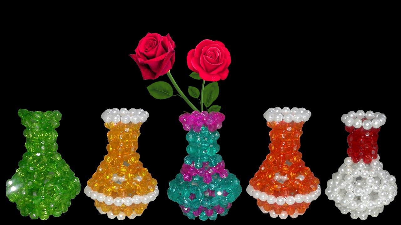 Download DIY Flower Vase : How To Make Beaded Flower Vase || Diy Beaded Craft Ideas