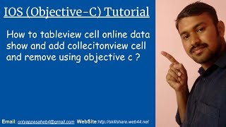 How to tableview cell online data show and add collecitonview cell and remove using objective c?