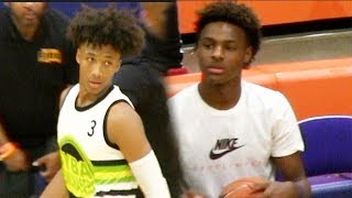 Mikey Williams Impressive In Front Of Bronny James Blue Chips! Walks Off The Court  After DUNK😳