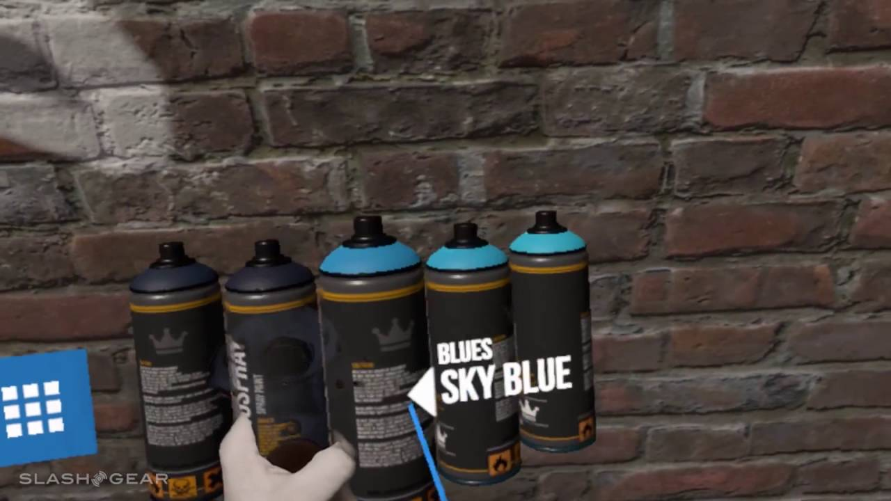 Kingspray Graffiti Simulator in VR is magical (with SG Mixed Reality
