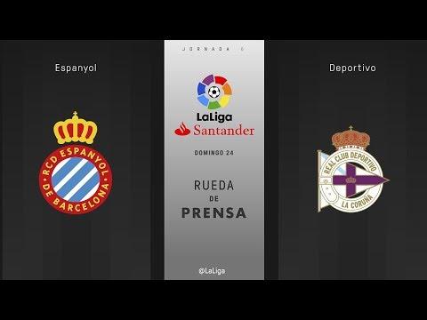 Rueda de prensa Espanyol vs Deportivo