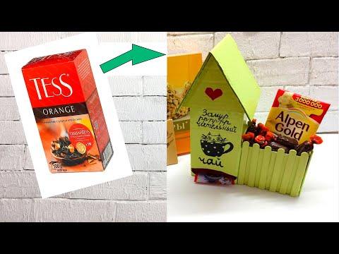 Чайные домики из картона своими руками
