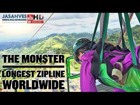 "Longest Zipline in the World by Guinness Record, ""El Monstruo"" (The Monster) Toro Verde Adventure"
