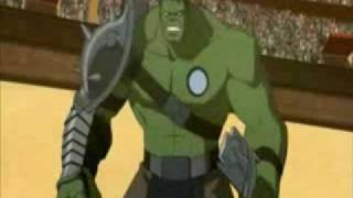 Planet Hulk: Hulk --vs-- Beta Ray Arena Battle Clip 2010