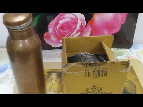 indianartvilla-copper-glass-tumbler-with-lid-300-ml-:-live-unboxing,-feature-and-review-(hindi)