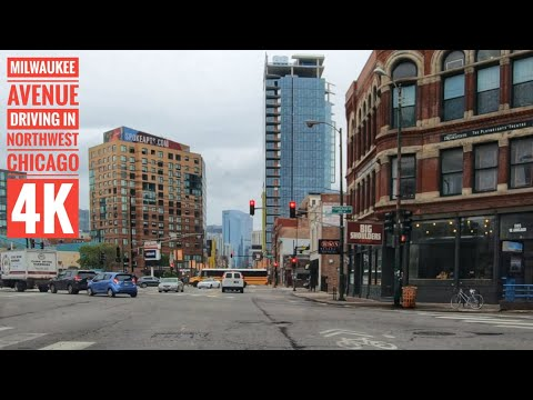 Milwaukee Avenue Driving In Northwest Chicago 4K  Streets Of The Americas
