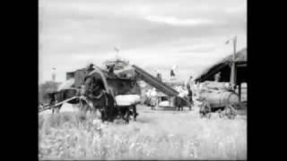 """105 лошадиных сил. Фильм о колхозе """"Заря"""". 1946 год."""