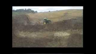 John Deere Discing Steep Hill NZ.