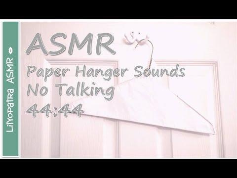 ASMR ~ Paper Hanger Sounds 44:44