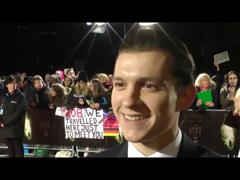"""Tom Holland - """"Lost City of Z"""" London Premiere interview (2017)"""