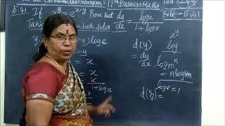 11th B-Maths [Part-249] Exle-5.41 Diff calculus Gomathi dharmarajan
