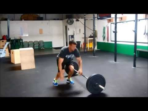burpee with lateral jump over the barbell