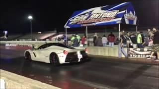 $2,000,000 Drag Race - Ferrari LaFerrari vs. Porsche 918 Spyder