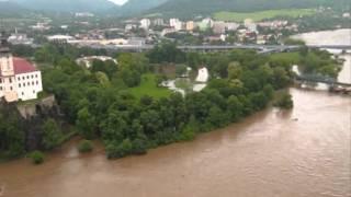 Povodeň Děčín - 4. června 2013 ráno)