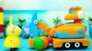 波齊和斯東變形玩具 波齊幫兔子小姐挖出好大的胡蘿蔔