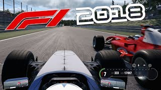 F1 2018 Gameplay - 2003 Williams FW25 V10 at Monza vs Ferrari F2004