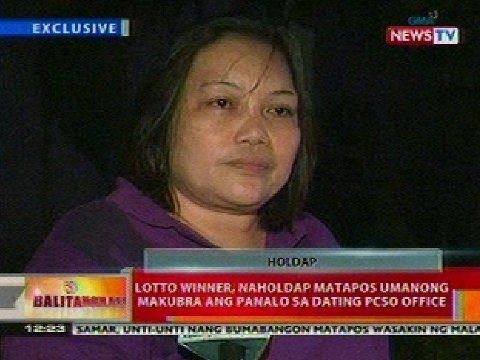 BT: Lotto winner, naholdap nang makubra ang panalo sa dating PCSO office