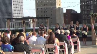 Regions Tower Terrace Indianapolis wedding ceremony - Grapevine DJs