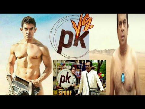 Amir Khan Vs Brahmanand Of movie Pk Make...
