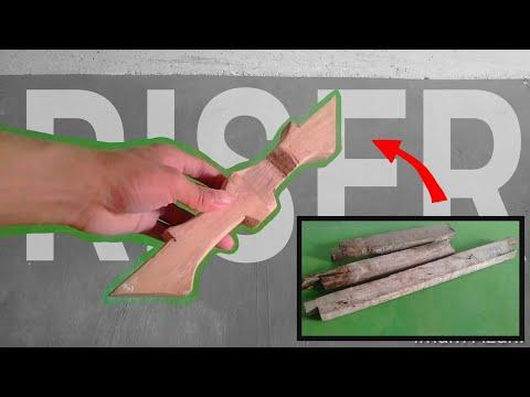 Cara buat RISER panah dari limbah kayu MANUAL
