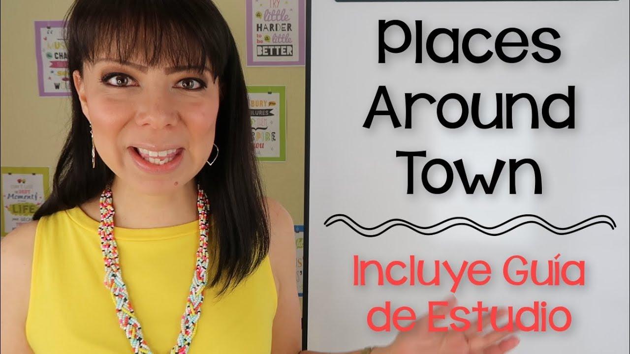 Vocabulario De Lugares De La Ciudad En Inglés Y Español Pronunciación En Inglés Youtube