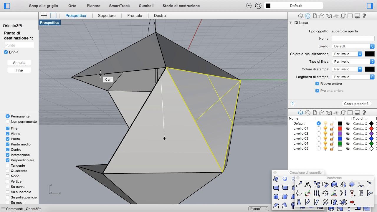 Icosaedro con Rhino in 3 passaggi