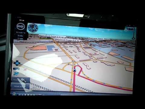 GPS навигатор на ноутбуке.