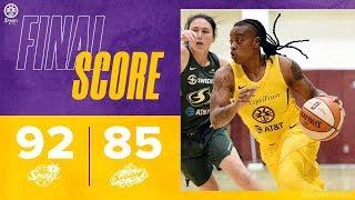 WNBA Seattle LosAngeles - preseason game highlights May 17, 2019