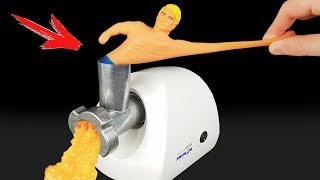 EXPERIMENT: MEAT GRINDER VS STRETCH ARMSTRONG