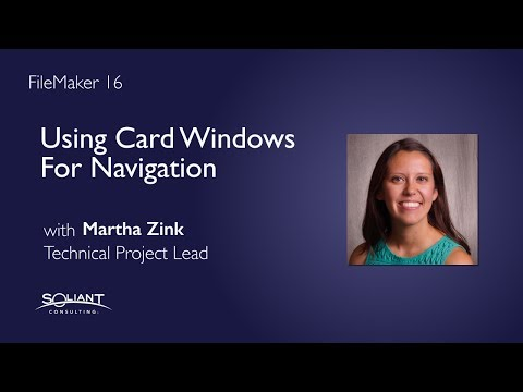 FileMaker 16: Using Card Windows for Navigation