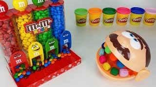 Play Doh Dentist Doctor Drill and M&M Chocolate Dispenser machine toys baby doll play - 토이몽