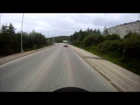 Road of Bones.Kolyma Highway. The Last 21 minutes riding into Magadan City Center. July 2014