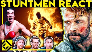Stuntmen React To Bad & Great Hollywood Stunts 21