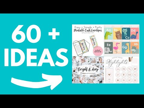 60+ Digital Product Ideas To Sell On Etsy To Make Passive Income In 2020