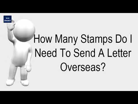 How Many Stamps Do I Need To Send A Letter Overseas YouTube