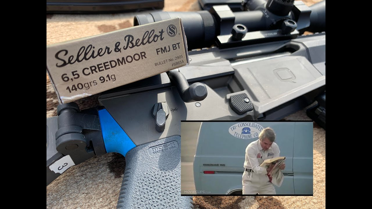 6.5 Creedmoor (6.5x48mm) 140gr FMJ, Sellier and Bellot SB65A / 2905