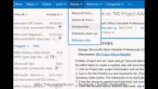Managing Spam and Newsletters in Outlook.com